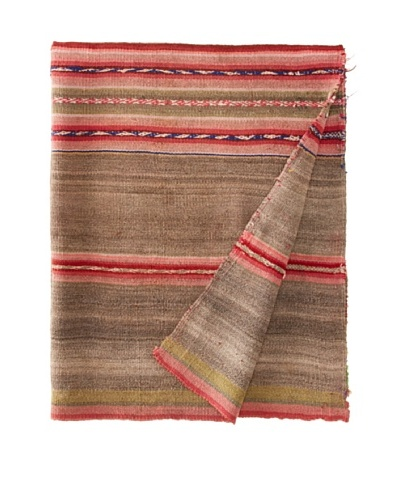 Nomadic Thread Society Peruvian Vintage Throw, Light/Hot Pinks/Green, 39.5x 36As You See