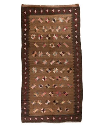 Nomads Loom Old Kurd Kilim, 4' 7 x 9' 1