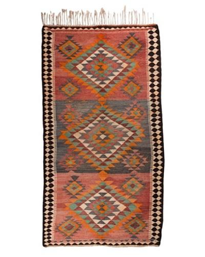 Nomads Loom Old Kurd Kilim, 4' 8 x 9'
