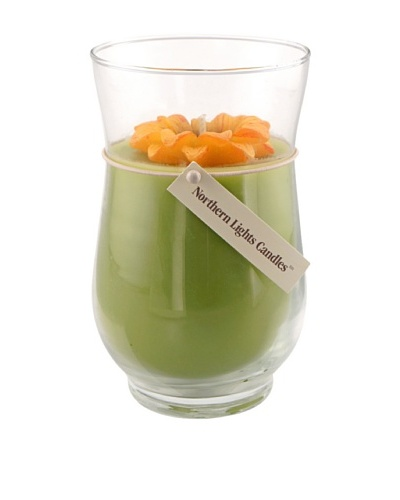 Northern Lights 18-Oz. Black Eyed Susan Floral Vase Candle