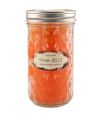 "Northern Lights ""Farm To Table"" Jelly Jar Candle, Orange, 9-Oz."