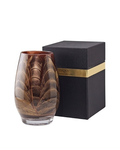 Northern Lights Candles Esque Candle & Floral Vase, Chocolate