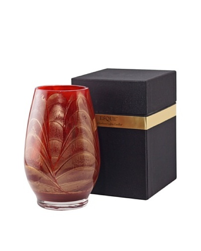 Northern Lights Candles Esque Candle & Floral Vase, Cranberry