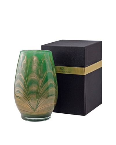 Northern Lights Candles Esque Candle & Floral Vase, Emerald