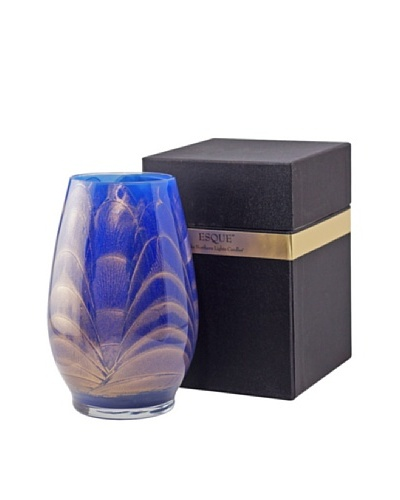 Northern Lights Candles Esque Candle & Floral Vase, Cobalt