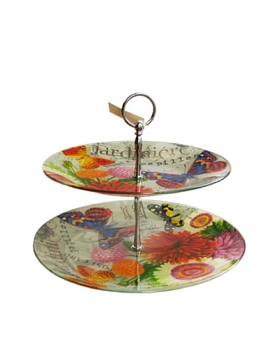 Bouquet De Fleur 2-Tier Serving Platter