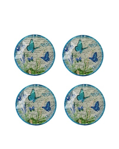 Set of 4 Butterfly Canape Plates