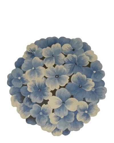 Nourison Blooms Rug, Blue, 5' x 5'