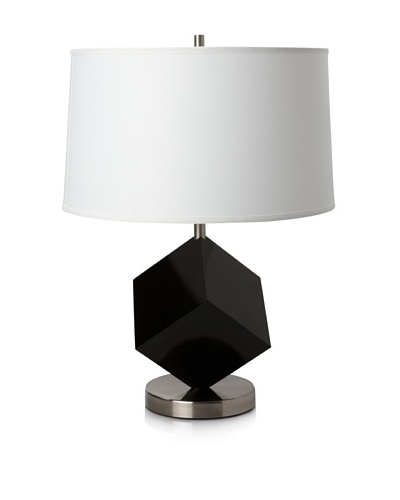 Nova Cubes Reclining Table Lamp, Gloss Back