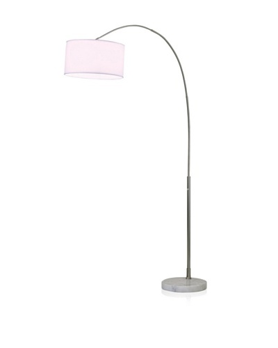 Nova Float Arc Lamp, Brushed Nickel