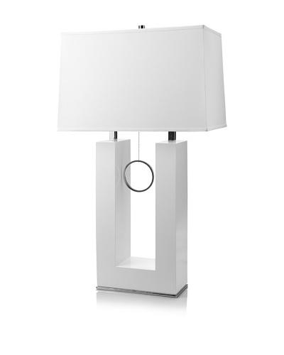 Nova Lighting Earring Table Lamp [White/Chrome]