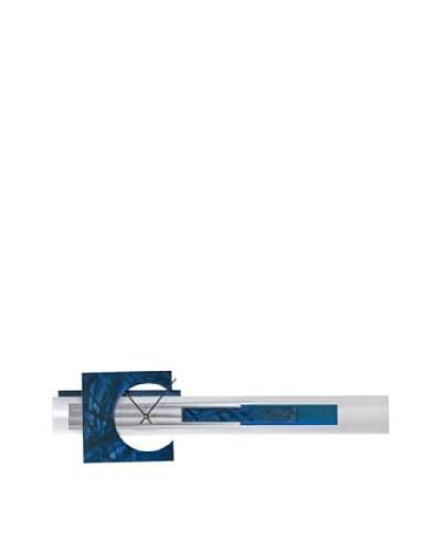 Nova Reach Wall Clock, Blue/Aluminum