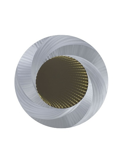 Nova Vortex Infinity Wall Mirror, Brushed Aluminum
