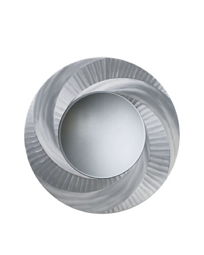 Nova Vortex Wall Mirror, Brushed Aluminum