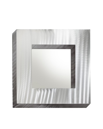 Nova Boxer Wall Mirror, Brushed Aluminum