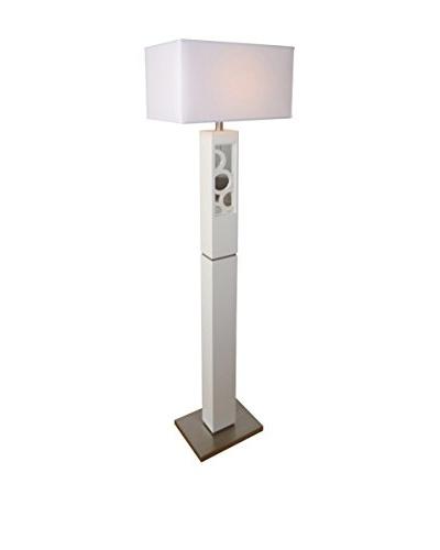 Nova Lighting Nemo Floor Lamp, Gloss White/Nickel