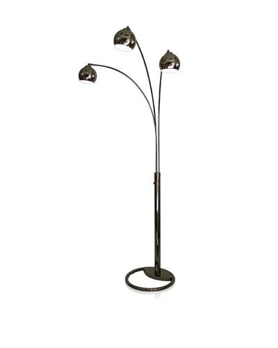 Nova Lighting Triplet 3-Light Arc Lamp, Black Nickel