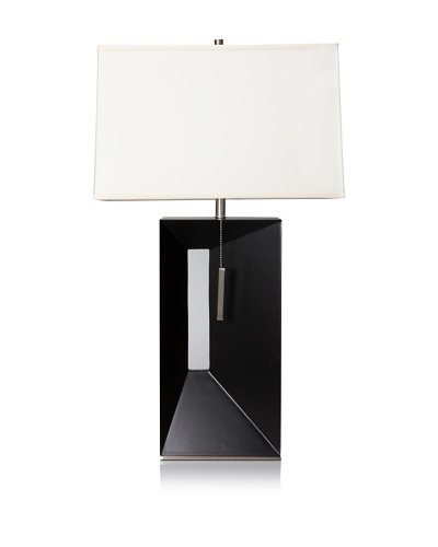 Nova Lighting Parallux Standing Table Lamp, Dark Brown/Silver/Cream