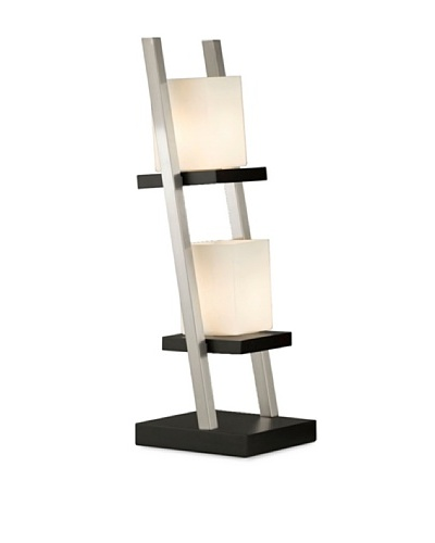 Nova Lighting Escalier Table Lamp, Dark Brown