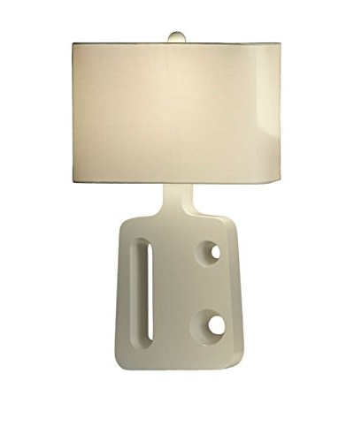 Nova Lighting Boo Standing Table Lamp, Gloss White/Nickel