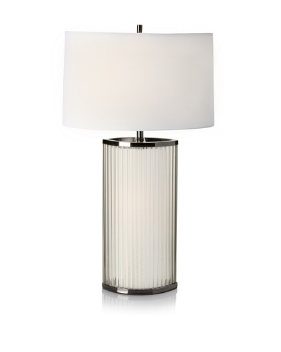 Nova Lighting Luci Table Lamp, White/Silver/Clear