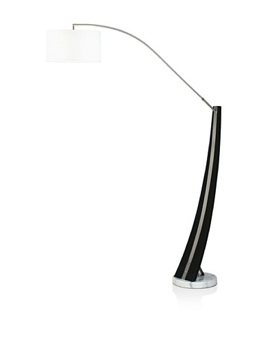Nova Lighting Planar Arc Lamp, Brushed Nickel