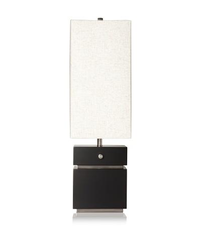 Nova Lighting Waterfall Table Lamp, Dark Brown/Silver/Oatmeal