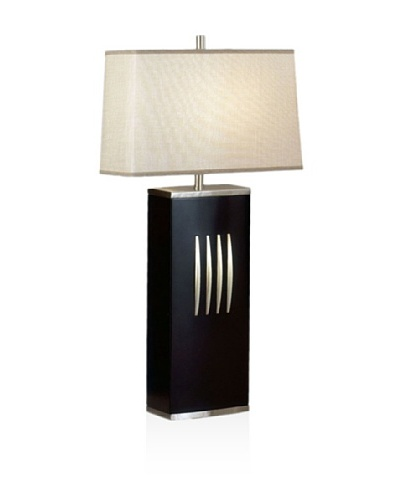 Nova Lighting Slice Standing Table Lamp, Dark Brown