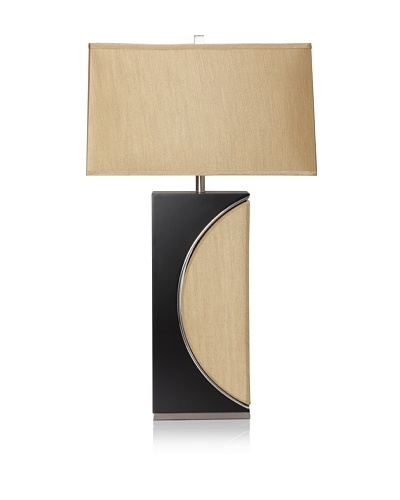 Nova Lighting Half Moon Table Lamp, Dark Brown/Silver/Etruscan Gold