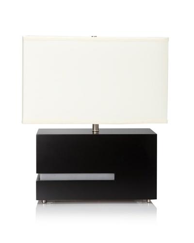 Nova Lighting Zen Reclining Table Lamp, Black/Silver/White