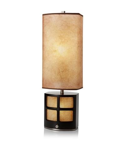 Nova Lighting Ventana Reclining Table Lamp, Dark Brown/Nickel/Parchment