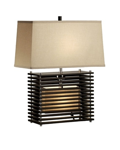 Nova Lighting Kimura Reclining Table Lamp, Dark Brown/Silver
