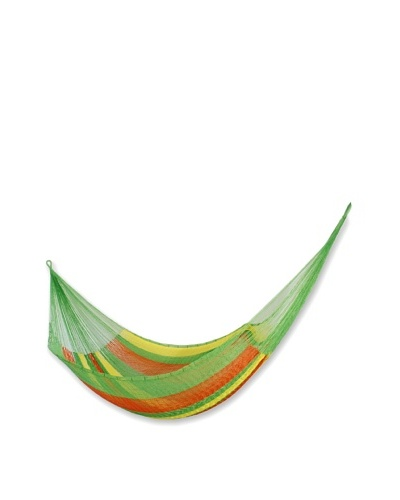 NOVICA Rope Hammock, Tropical Passion