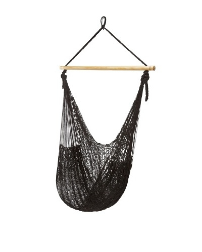 NOVICA Rope Hammock Swing, Caribbean Nights