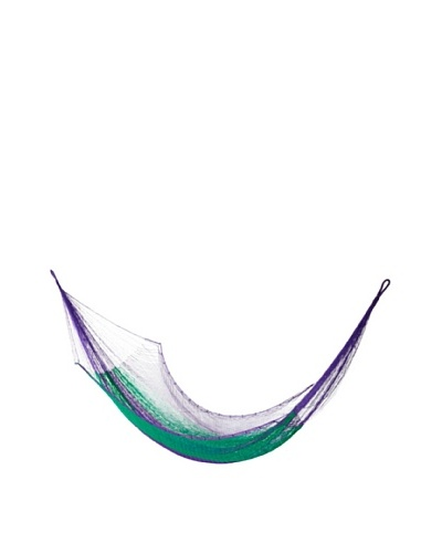 NOVICA Rope Hammock, Green Vineyard
