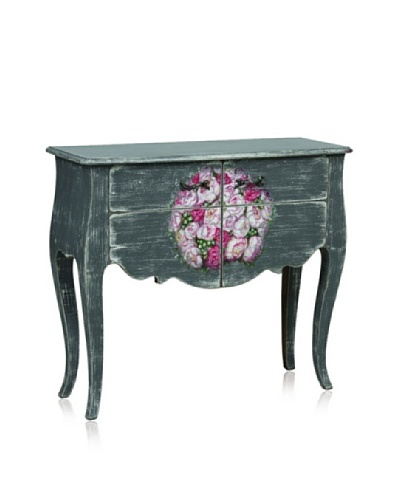 nuLOOM 2 Door Flora Console French Chateau Style