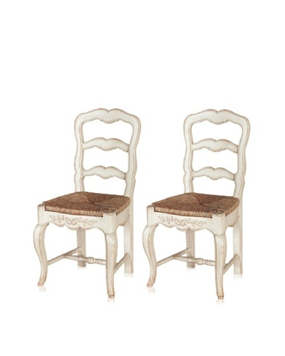 nuLOOM Set of 2 Gina French Chateau Style Dining Chairs