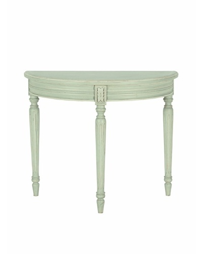 nuLOOM Enilie French Chateau Style Half Moon Console Table