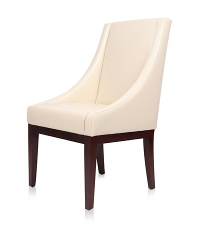 nuLOOM Sandy Sloping Leather Arm Chair