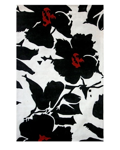 nuLOOM Urban Flower [Black/Ivory/Red]