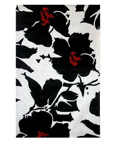 nuLOOM Urban Flower [Black/Ivory/Red]