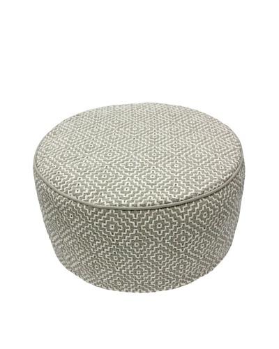 nuLOOM Siena Round Cushion Pouf
