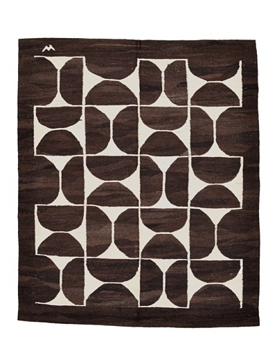 nuLOOM One-of-a-Kind Anatolian Turkish Kilim Rug [Chocolate]