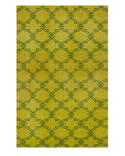 nuLOOM Hand-Knotted Overdyed Style Area Rug [Yellow]