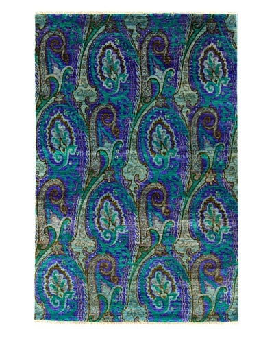 nuLOOM Hand-Knotted Paisley Rug [Light Blue]