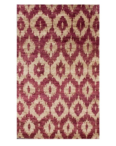 nuLOOM Hemp Ikat Rug [Red]