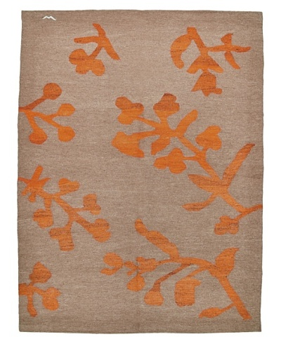 nuLOOM One of a Kind Anatolian Turkish Kilim [Sand/Orange]