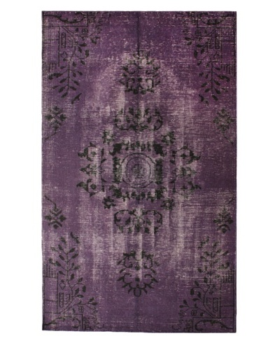 nuLOOM Hand-Knotted Overdyed Style Area Rug, Purple, 5′ x 8′