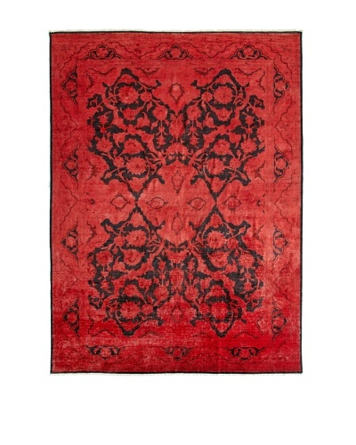 nuLOOM Vintage Hand-Knotted Overdyed Rug [Red]