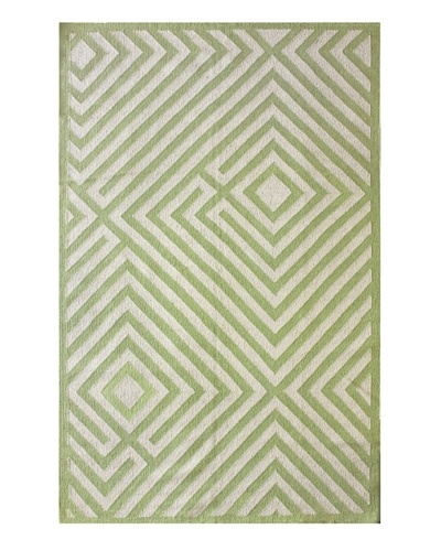 nuLOOM Diamond Maze Rug [Green]